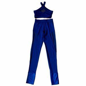 CONTEMPORARY: Blue Two-Piece Dance Costume XS